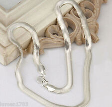 SOLID SILVER SNAKE CHAIN NECKLACE 6MM POLISHED FINISH LOBSTER CLASP NEW 24 INCH