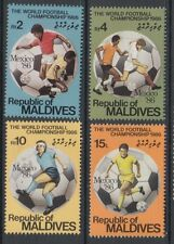XG-T345 MALDIVES IND - Football, 1986 Mexico '86 World Cup MNH Set