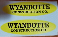 WYANDOTTE CONSTRUCTION CO. OVAL  DECAL SET
