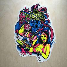 Real skateboards vinyl sticker DLX decal bumper killer carnage black light big