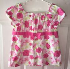 Gymboree Fairy Garden Girls 9 Pink Floral Ribbon Lined Dressy TOP Blouse
