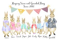 Cute Personalised Print Grandparents Mum Mummy Nanny Christmas Birthday Gift. A4