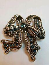 "New $150 HEIDI DAUS /""Floral Escapade/"" Floral Crystal Enamel Pin Brooch Turquoise"