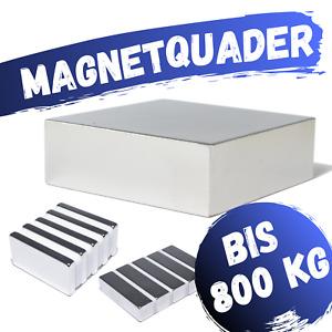 Neodym Magnet N52 Quader Scheibe Neodym-Magnet Extrem Stark ab 100Kg bis 800Kg
