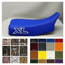 Honda  XL600R Seat Cover 83-87 in ROYAL BLUE (outlined XL on side / ST in WHITE)