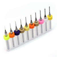 10Pcs PCB Print Circuit Board Carbide Micro Drill Bits Tool 0.3mm to 1.2 mm TOP