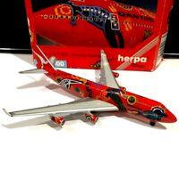 Herpa 511865 Qantas Wunala Dreaming 747-400 VH-OJB 1/500 scale model air plane