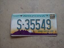 Grand Canyon State of Arizona license plate S-35548 good exp pre 2013 Saguaro