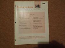 VAUXHALL SERVICE BULLETIN V 66/4 FC HA PC  BEDFORD CA 1966