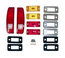 Lens Kit for 1970-1977 Bronco w/ Side Marker Lights & Bezels *FREE 1-3 DAY SHIP