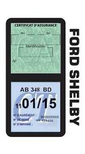 Porte vignette assurance FORD SHELBY double étui voiture Stickers auto rétro