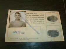 Cleveland Baseball Federation Contract Richard Kielbasa 1947 Player Player's