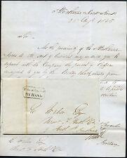 Gb St katherines Dock 1835 entregado a mano... Barco Betsy Negro... Café