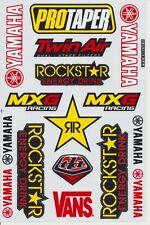MXG Racing Yamaha Rockstar Energy Drink logo Helmet Clear Sticker  Kits Decals