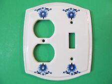 Vintage Ceramic Heritage Collection Floral Light Switchplate Plug Outlet Cover