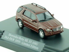 Busch b66961304 MERCEDES MB ML 55 AMG Bit 1999 publicitaires modèle neuf dans sa boîte 1411-17-85