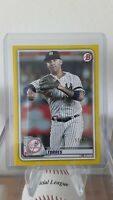2020 Bowman Base Parallel Yellow #74 Gleyber Torres  /75 - New York Yankees