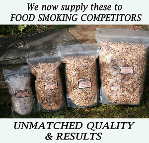 Perfect SIZE BBq smoking wood chips Large chips Ideal size natural wood chips