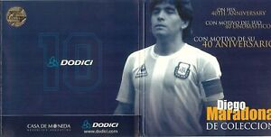 Diego Maradona Coin Medal in Sealed Collectible Blister 2000 40th Anniversary