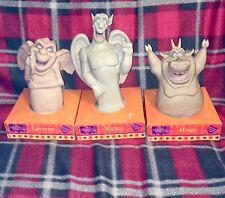 DISNEY Hunchback Of Notre Dame 1996 NEW 3 Vinyl Plush Toys Victor Laverne Hugo
