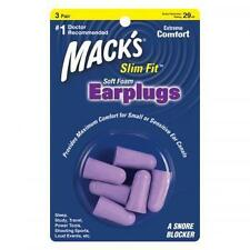 MACKS Slim Fit Soft Foam Earplugs -2x 3 pairs (PURPLE)