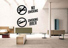 Wall Room Decor Art Vinyl Sticker Mural Decal No Smoking Area Signs Logo FI922
