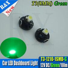 2 x T3 Neo Wedge 1 SMD 1210 LED Car Bulb HVAC Climate Control Lights DC12V GREEN