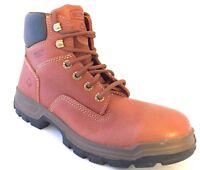 Wolverine W08308 Men's Steel Toe Brown Tan Steel Toe Work Boots Size 8.5 US (M)