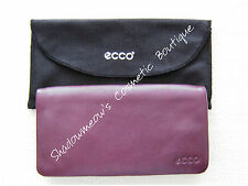 ECCO Bolivar Burgundy Plum Continental Wallet 16 Slots  $109 HTF Free US Shipping