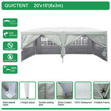 Quictent Silvox® Waterproof 10x20'Ez Pop Up Canopy Gazebo Party Tent Silver