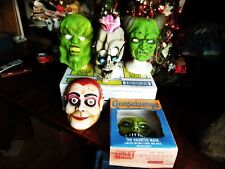 USED VINTAGE 5 DIFFERENT GOOSEBUMPS MASKS BY RL STINE some imperfections