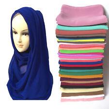 Chiffon Maxi Women Hijab Scarf Shawl Head Wrap Muslim Islamic Headwear