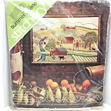 Spinnerin Stitchery Summer Scene Farm Barn Crewel Veva Wood NEW ST1016