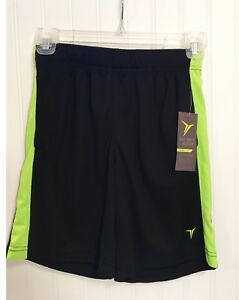 Old Navy Active Go Dry Boys Sports Shorts, Black/Neon Green, multiple sizes NWT