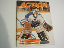 1X 1987 ACTION MAGAZINE Oilers Vs Canadiens March 7th 1987 EXMT