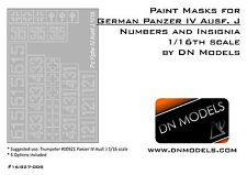 Paint Masks Set for Panzer IV Ausf.J Insignia & Numbers 1/16 Trumpeter #00921