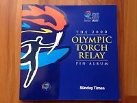 **MINT** Sunday Times SYDNEY 2000 OLYMPIC Torch Relay 21 Pins &  Album