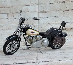 Black Indian Motorcycle 1:10-Scale Diecast 1957 Scout Handcrafted Figure Figure