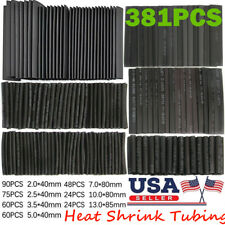 381 pc Heat Shrink Wire Wrap Assortment Set Tubing Electrical Connection Cable