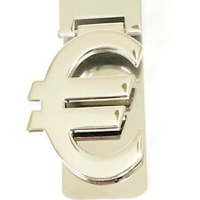 Euro Sign Money Clip Metal Polished Silver Color New