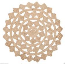 RUGS ROUND TEASEL Natural Circle Beige Jute Floor mat Organic **FREE POST**