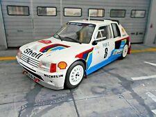 PEUGEOT 205 T16 Rallye Gr.B Monte Carlo WM 1985 #8 Saby Fauchill Shell IXO 1:18