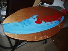 Vintage Victoria Surfboard Skimboard Surf Skim Board Laguna Beach Wall Decor