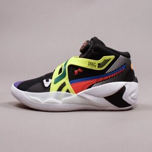 Puma Disc Rebirth (Men Size 15) Athletic Basketball Sneaker Shoes Black Yellow