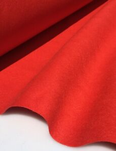 RED FELT / BAIZE FABRIC Poker Tables etc EN-71 CERTIFIED. 60 INCHES WIDE!!