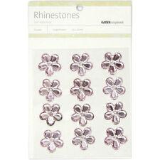 "**BRAND NEW** Kaiser Craft ""Lt. Pink Flower Rhinestones"" 12 per Pack 387507"
