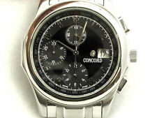 MEN'S CONCORD VENTU CHRONOGRAPH  AUTOMATIC TACHYMETER WATCH 37 JEWEL SS BAND