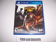 Original Box Case Replacement for Sony PlayStation 4 PS4 Infamous Second Son