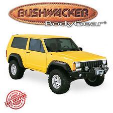 "Bushwacker Black 6"" Cut-Out Fender Flare 4pc Set 1984-1996 Jeep Cherokee 2Dr"