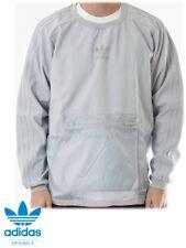 Men's Adidas Originals Crew Running  Sweatshirt Top With Pouch  Pocket AJ7867